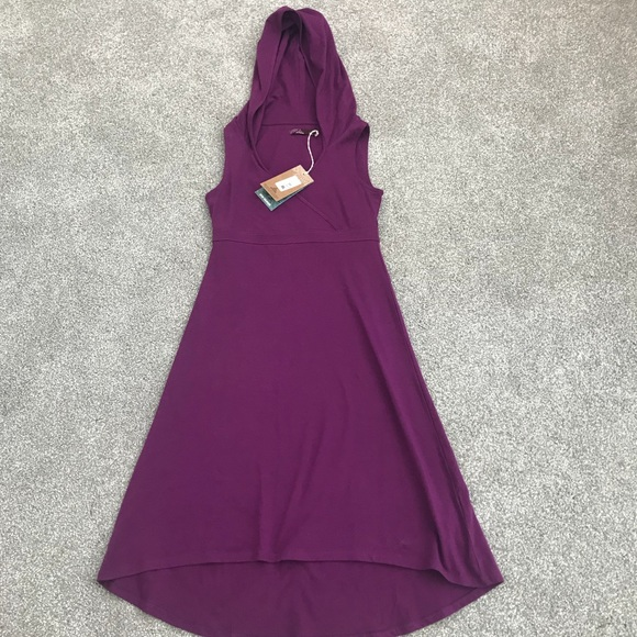 prana dresses alana hooded red violet dress poshmark